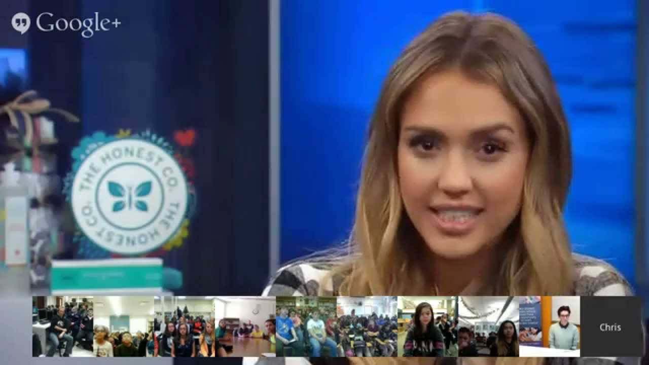 Hour of Code video chat with Jessica Alba