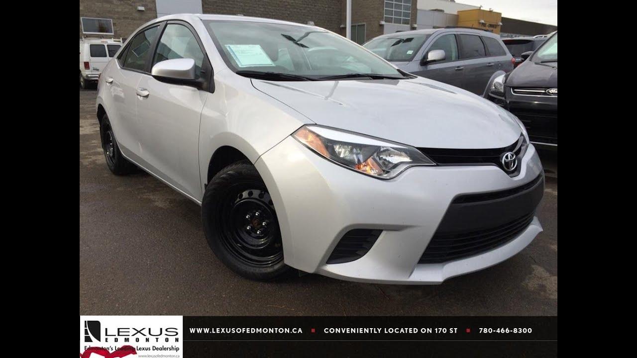 Used Silver 2014 Toyota Corolla CVT LE Review  Lacombe Alberta