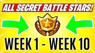 ALL Fortnite Season 6 Secret BATTE STAR Locations and SECRET BANNER Locations Week 1 - 10