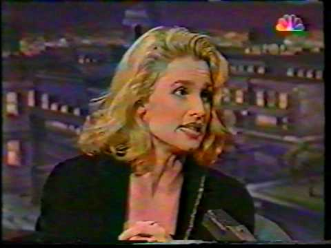 Nicollette Sheridan in the Jay Leno Show 1994 Knots Landing Desperate Housewifes