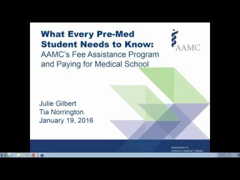 Financial Aid and Fee Assistance Program Webinar with the AAMC