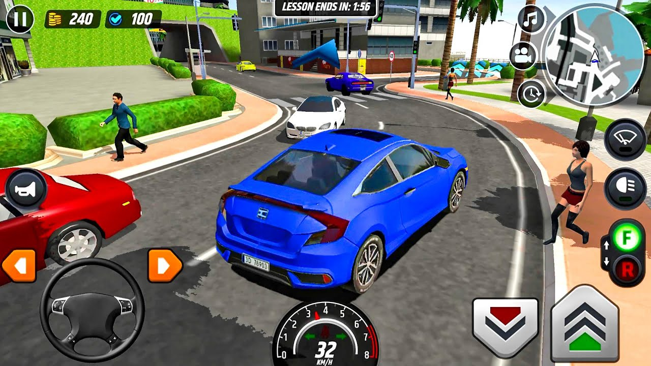 Driver S License Course 6 Blue Car Game Android Gameplay Youtube