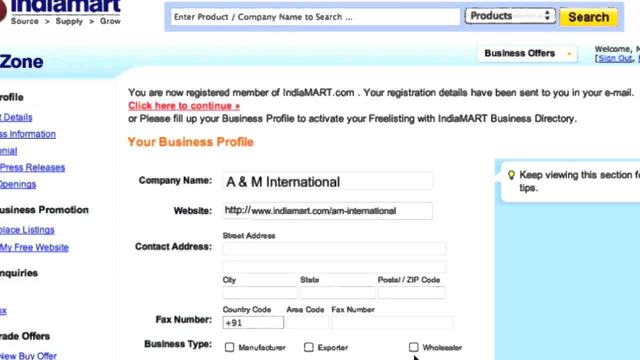 Indiamart How To Register Your Company For Free