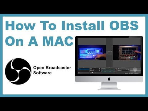 how to install obs on mac