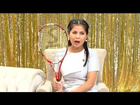 """""""แทมมี่ แทมมารีน"""" โชว์ไม้เทนนิสที่มีอันเดียวในโลก โชว์แตกฟอง ช่อง2"""