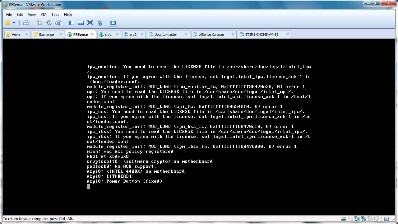 pfSense password protect to console menu
