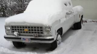 COLD START, WILL IT RUN? 1980 Chevy C30 Crew Cab Dually Pickup
