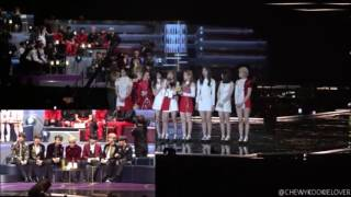 BTS reaction to TWICE (Song of the Year) at MAMA 2016 ver.3