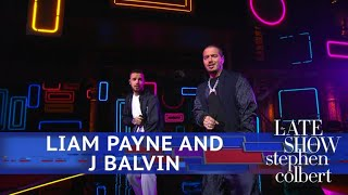 Liam Payne And J Balvin Perform 'Familiar'