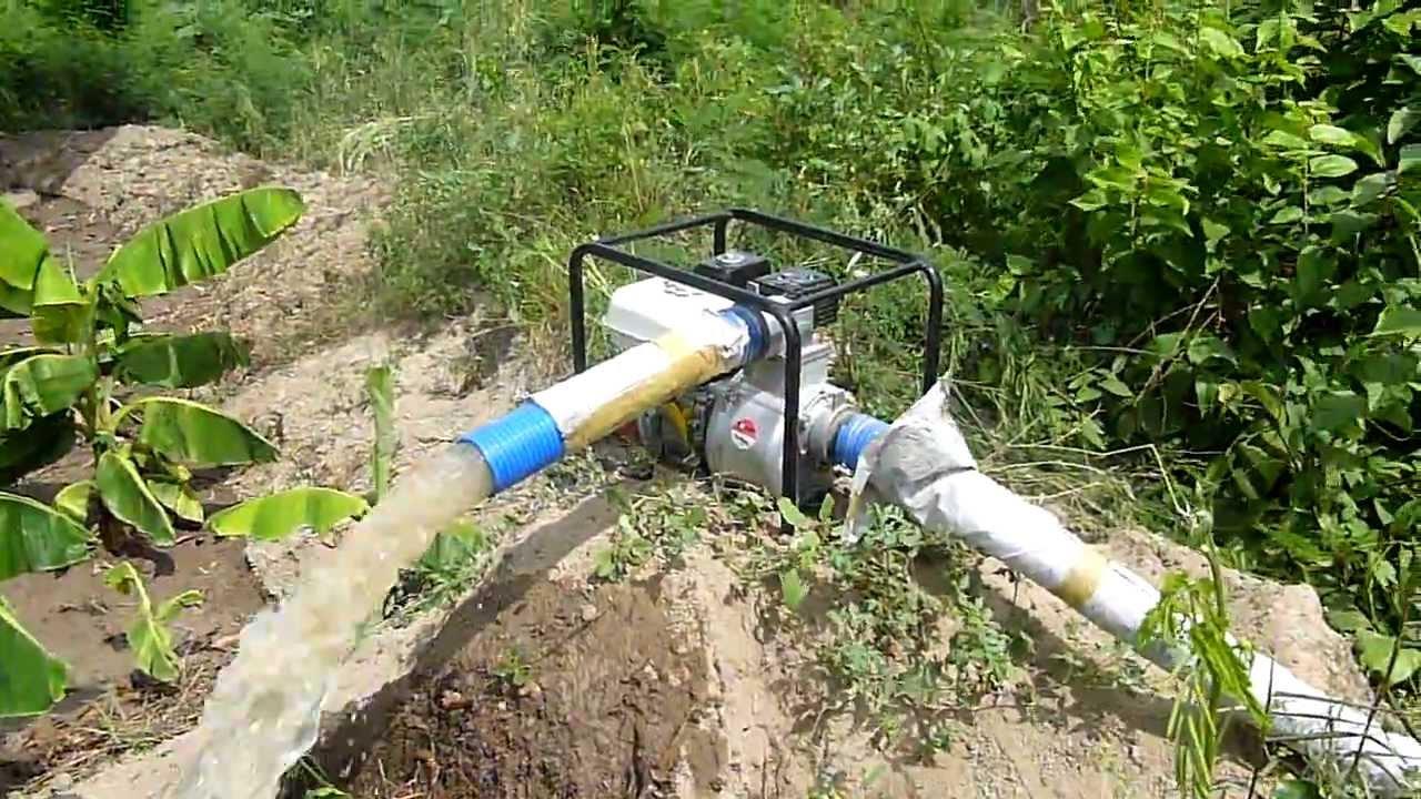 Probando la moto bomba de riego honda scr 80 hx youtube - Tuberias de riego por goteo ...