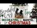 Beautiful   Easy Christmas Decorating Tips for the Fireplace Mantel   Interior Design