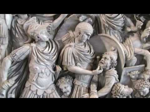 Battle of the Romans and Barbarians (Ludovisi Battle Sarcophagus), c. 250-260 C.E.