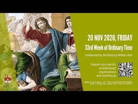 Catholic Weekday Mass Today Online - Friday, 33rd Week of Ordinary Time 2020