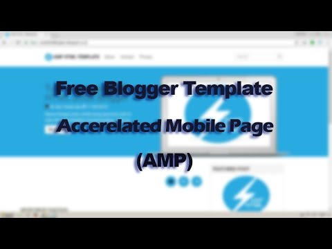 Free Blogger Template Accelerated Mobile Pages (AMP)