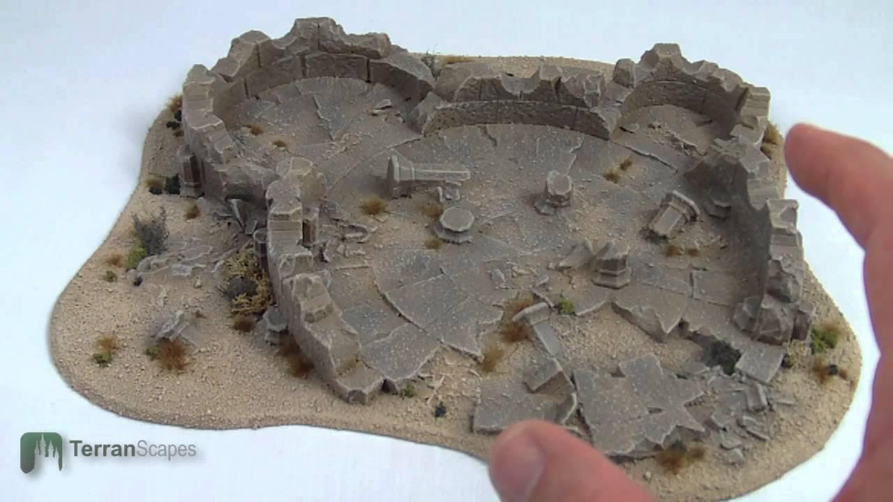 TerranScapes - Desert Ruins and Hill Board Wargame Terrain