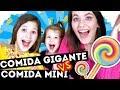 GIANT FOOD vs MINI FOOD | Comida Gigante vs Comida Mini | Yippee Family