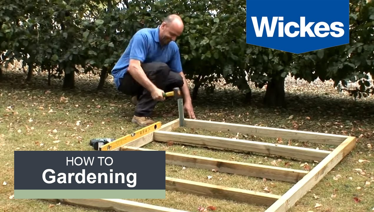 How To Build A Wooden Shed Base With Wickes Youtube