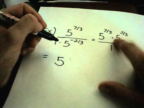 Evaluating fractional exponents: negative unit-fraction (video.