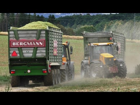 Big Corn Silage | Tractor in action | Claas | JCB Fastrac | New Holland | 2x Claas Jaguar