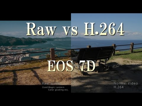 EOS 7D Magic Lantern (Raw vs H.264)