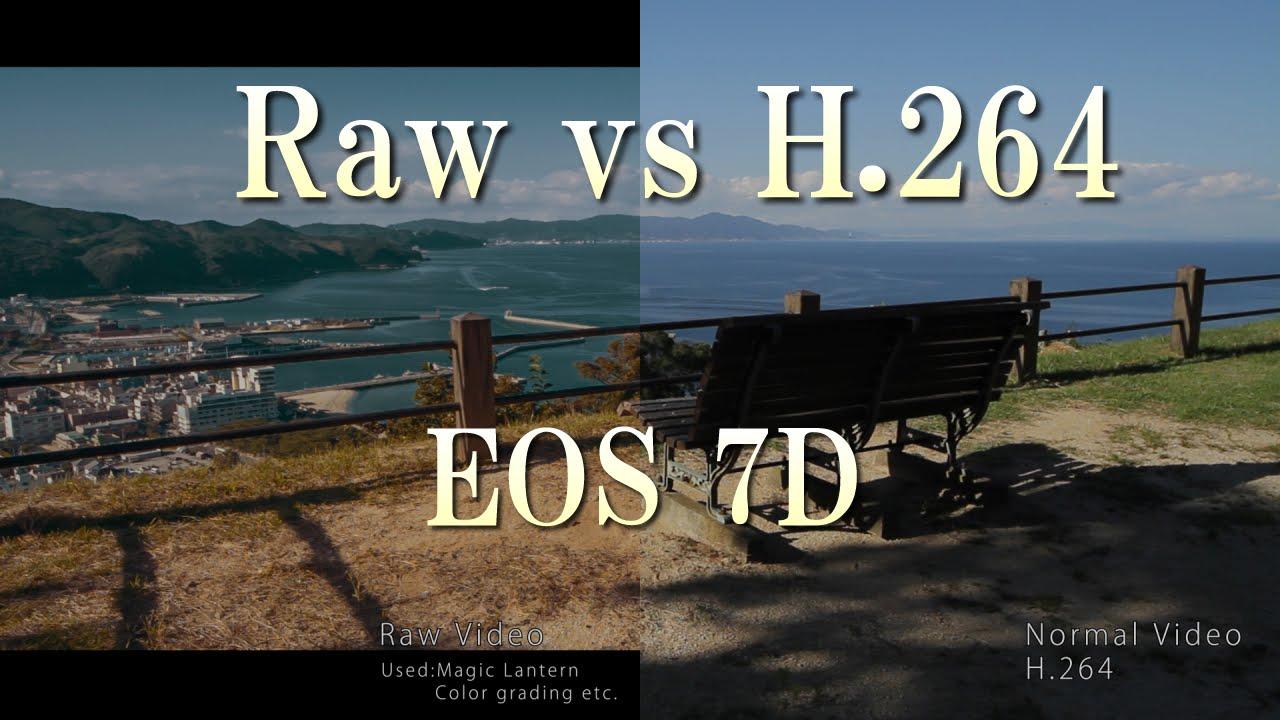 EOS 7D Magic Lantern (Raw vs H 264)