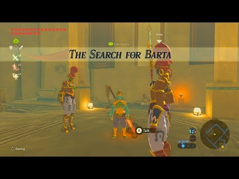 The Legend of Zelda: Breath of the Wild (Wii U) - Side Quest - The Search for Barta