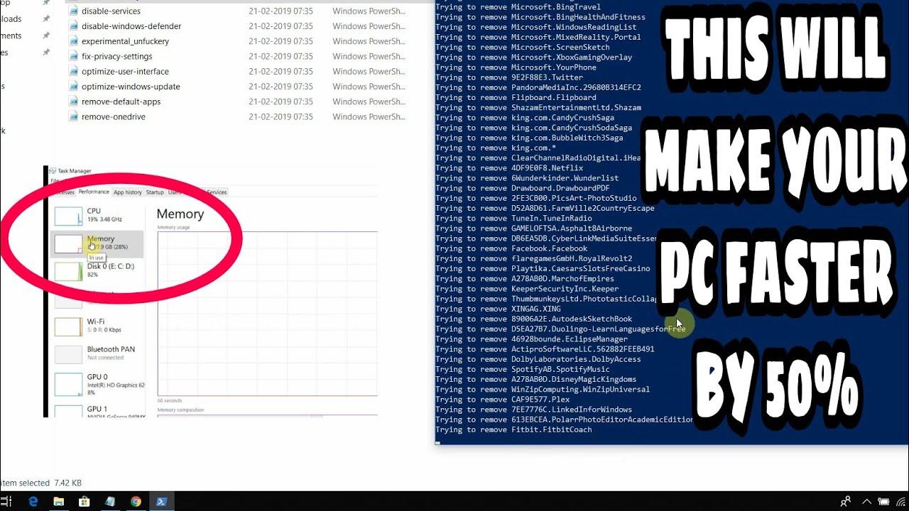 How to make Windows 10 Faster (2019) | Windows Debloater Script | Debloat  Master |