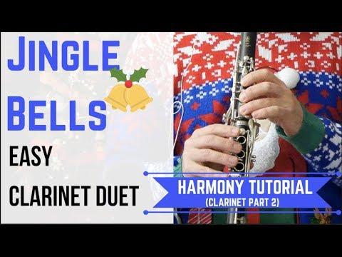 Jingle Bells - CLARINET Harmony (Easy Duet)