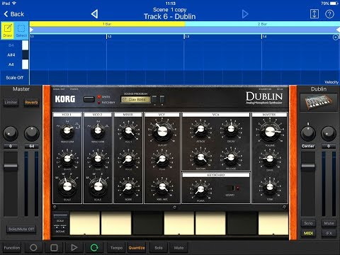 KORG Gadget Lets Compose with DUBLIN & New Presets Demo for the iPad