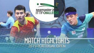 Niu Guankai vs Qiu Dang | 2019 ITTF Challenge Plus Portugal Open Highlights ( R16 )