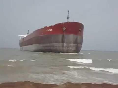 Ship Beaching Ore Carrier M V FAITH N wmv