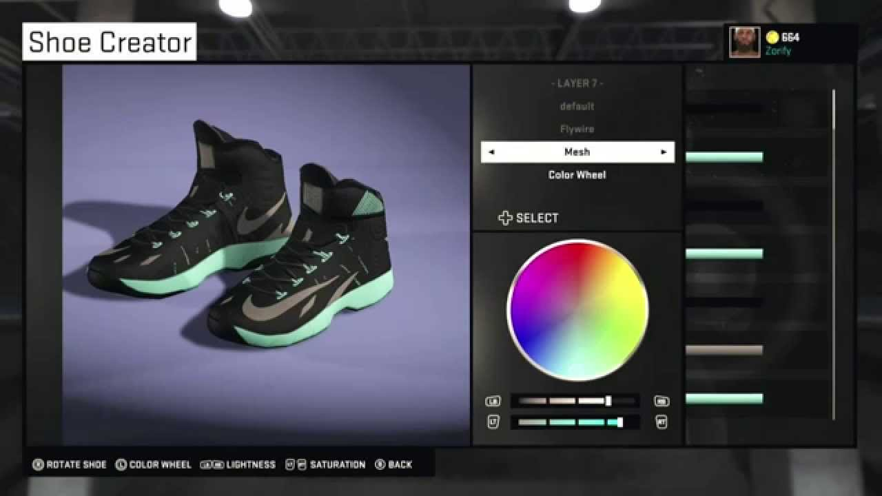 buy popular df244 61dfa NBA 2K15 Shoe Creator - Nike Zoom Hyperrev PE