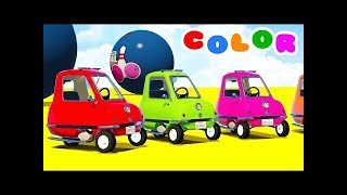 Kids Game Disney Cars Colors Cartoon Excavator Toys Superheroes Spiderman Tractor Truck Police Car