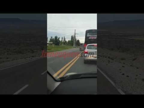Peligro sobre la Ruta 151: así viajaba un colectivo de larga distancia