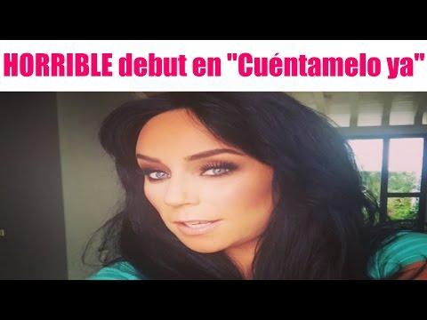 """HORRIBLE debut de Inés Gómez Mont en """"Cuéntamelo ya"""""""