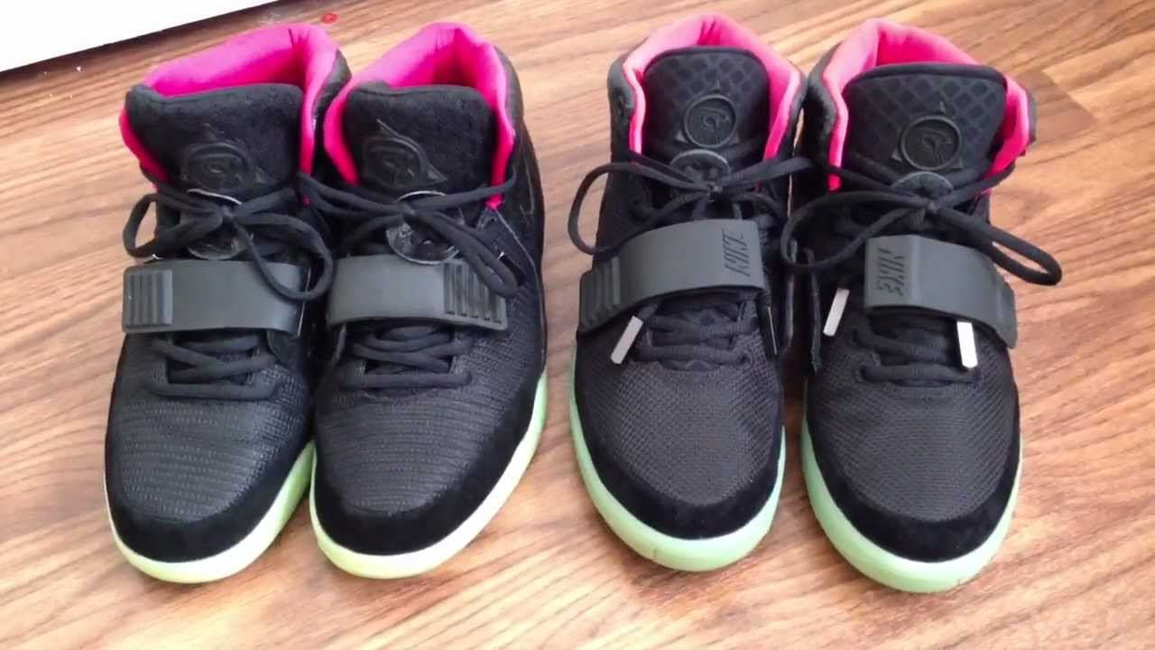 dc46ad2e4 Marmatic28  Nike Air Yeezy 2 Solar Red - Real Vs. Fake Comparison ...