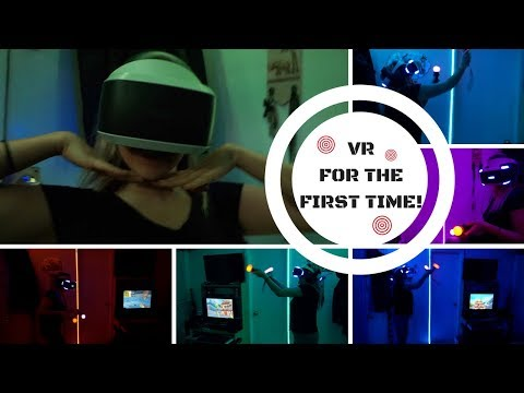 Older Lady Tries VR (Virtual Reality) For The First Time!   Fruit Ninja   Driveclub   Final Fantasy
