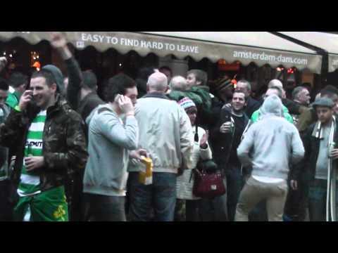 celtic fans @ dam street (ajax - celtic1-0) champion league 2013