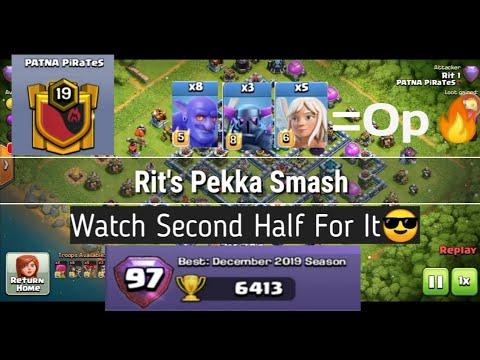 Best Smash Attacks In COC   Yeti Smash   Pekka Smash   Patna PiraTes❤️