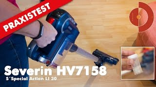 Severin HV7158 cordless vacuum cleaner in the test