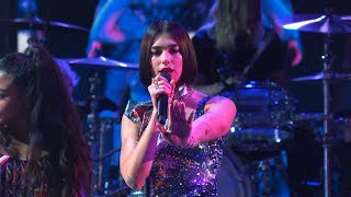 """Dua Lipa Performs """"IDGAF"""" Live at The Late Show with Stephen Colbert"""