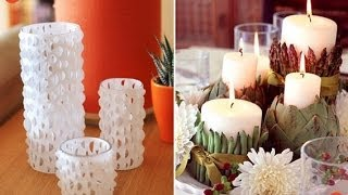 Creative Ideas - Diy - Wooden Pallet - Diy Candles - Garden