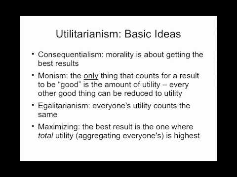 PUAF 650 Moral Dimensions of Public Policy - Lecture 1 - Utilitarianism