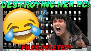 DESTROYING A GIRL SCAMMERS PC!