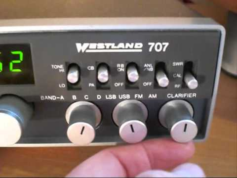 WESTLAND 707,  27Mhz  AM/FM/SSB TRANSCEIVER TEST.