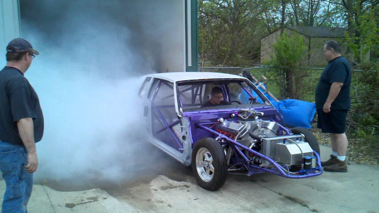 1987 Monte Carlo SS drag car burnout!!! - YouTube