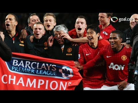 Manchester United win their 20th league title
