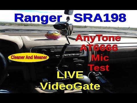 LIVE Ranger SRA198 / AnyTone AT 6666 Mic Test Videogate.