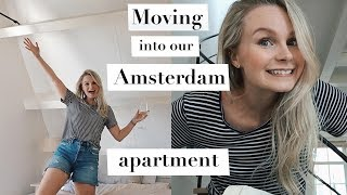 MOVING INTO OUR AMSTERDAM APARTMENT, THRIFT SHOPPING + CLEAN WITH ME   ANDREACLARE