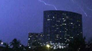 WOW ! Thunderstorm Blue Building Miami